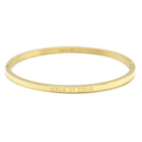 Bracelet-Jonc-Fin-Acier-Dore-avec-Message-Soeur-de-Coeur