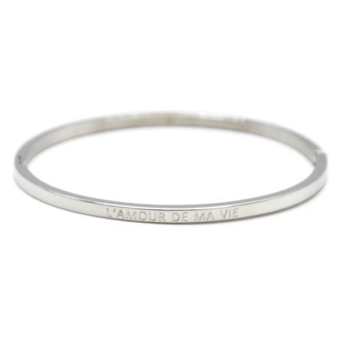 Bracelet-Jonc-Fin-Acier-Argente-avec-Message-LAmour-de-Ma-Vie
