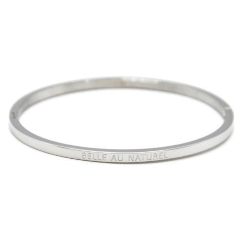 Bracelet-Jonc-Fin-Acier-Argente-avec-Message-Belle-au-Naturel