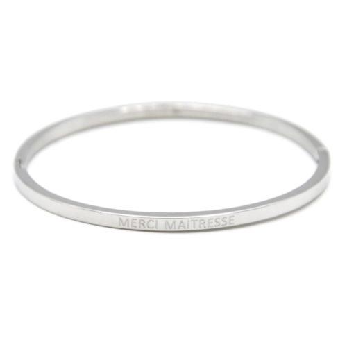Bracelet-Jonc-Fin-Acier-Argente-avec-Message-Merci-Maitresse