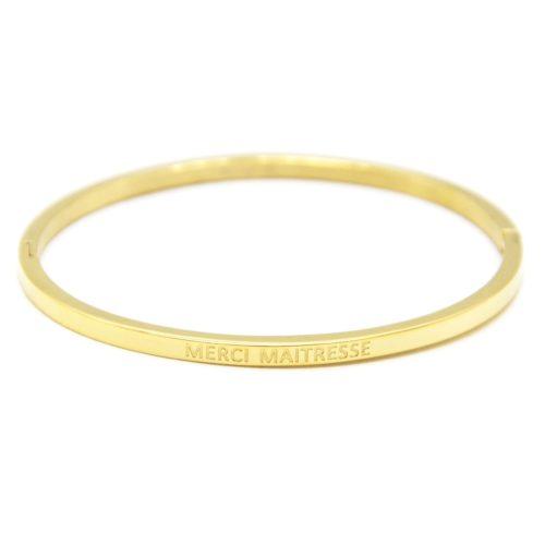 Bracelet-Jonc-Fin-Acier-Dore-avec-Message-Merci-Maitresse