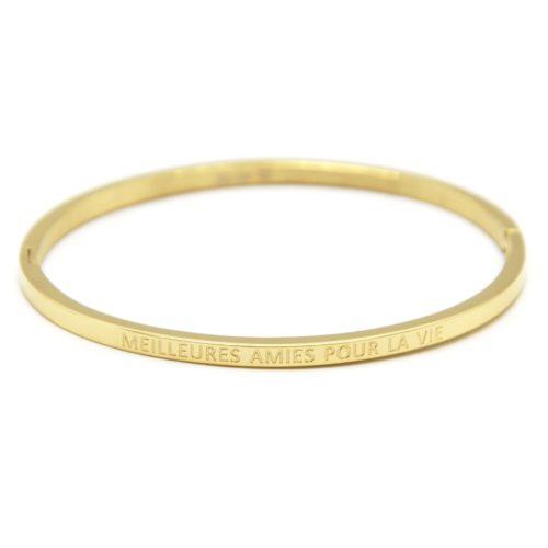 Bracelet-Jonc-Fin-Acier-Dore-avec-Message-Meilleures-Amies-Pour-La-Vie