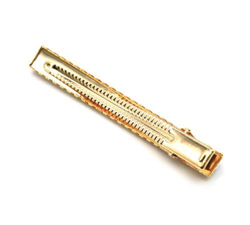 Barrette-Pince-Cheveux-Metal-Dore-avec-Perles-Ecru-et-Contour-Strass