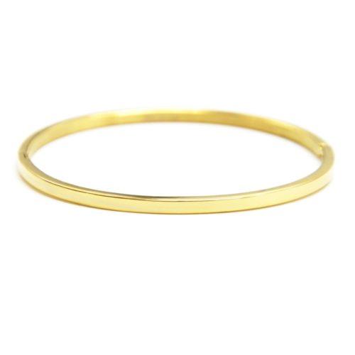 Bracelet-Jonc-Fin-Acier-Dore-Neutre-Sans-Gravure