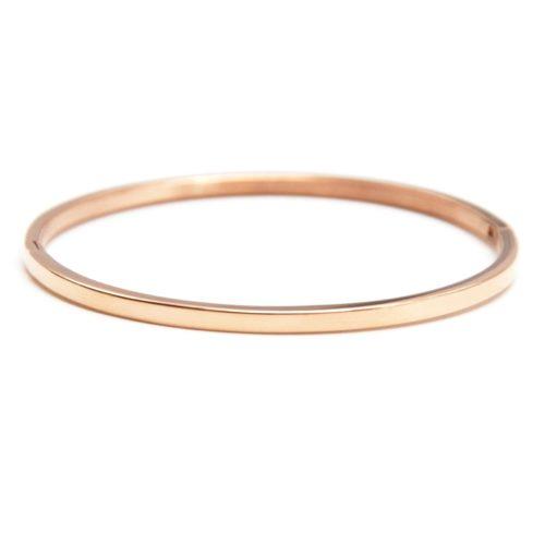 Bracelet-Jonc-Fin-Acier-Or-Rose-Neutre-Sans-Gravure