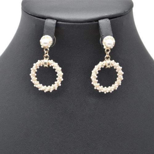 Boucles-dOreilles-Pendantes-Perle-et-Cercle-Contour-Mini-Perles-Ecru