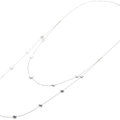 Sautoir-Collier-Double-Chaine-avec-Charms-Mini-Soleils-Acier-Argente