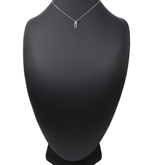Collier-Fine-Chaine-Argent-925-Pendentif-Rectangles-Arrondis-Strass-Zirconium