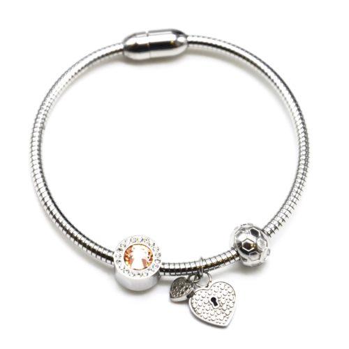 Bracelet-Jonc-Raye-Aimante-avec-Charms-Cercle-Strass-Pierre-et-Coeurs-Acier-Argente