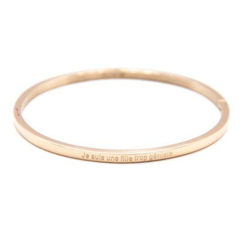 Bracelet-Jonc-Fin-Acier-Or-Rose-avec-Message-Je-suis-une-fille-trop-geniale