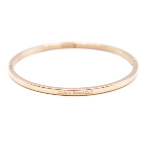 Bracelet-Jonc-Fin-Acier-Or-Rose-avec-Message-Life-is-beautiful