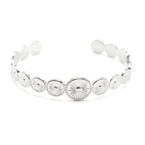 Bracelet-Jonc-Ouvert-avec-Multi-Cercles-Motif-Soleil-Acier-Argente