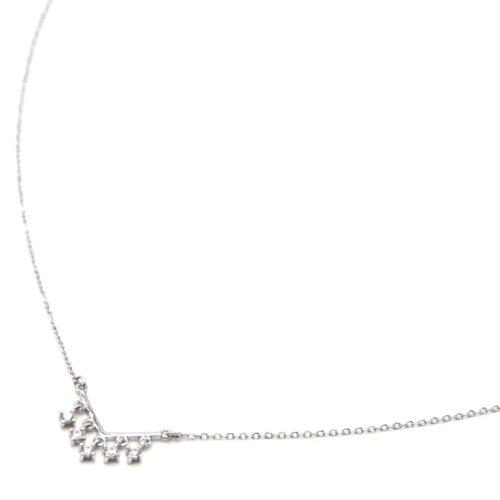 Collier-Fine-Chaine-Argent-925-Pendentif-V-Mini-Pampilles-Pierres-Zirconium