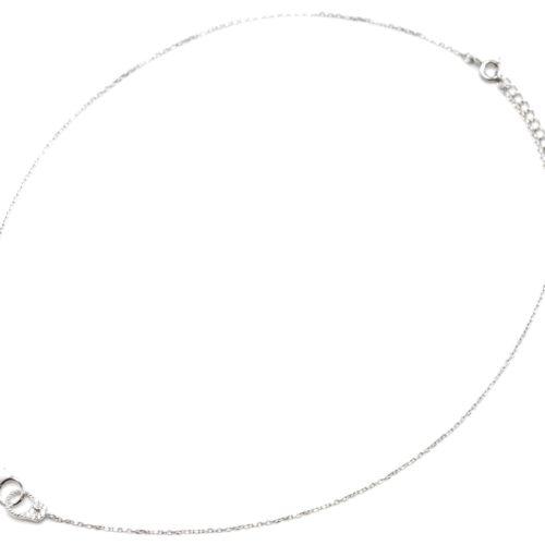 Collier-Fine-Chaine-Argent-925-Pendentif-Menottes-Strass-Zirconium