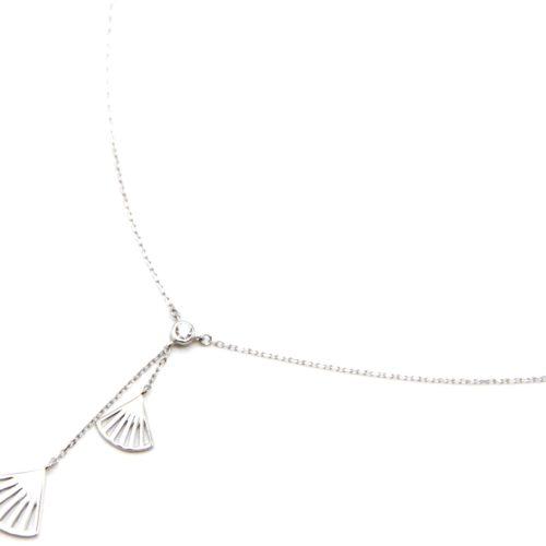 Collier-Fine-Chaine-Argent-925-Pendentif-Y-Pierre-Zirconium-et-Eventails-Ajoures