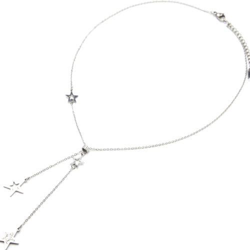Collier-Fine-Chaine-Pendentif-Y-Etoiles-Contour-Acier-Argente-et-Strass