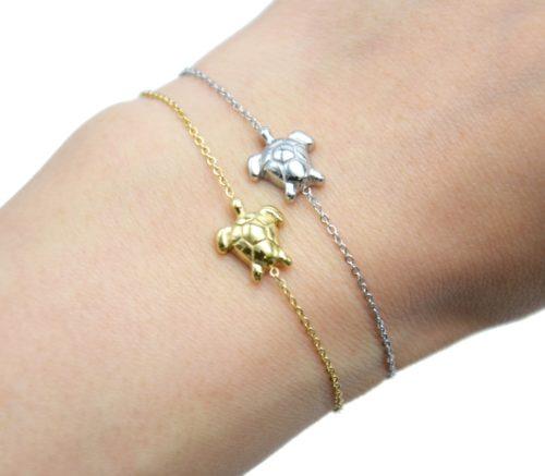 Bracelet-Fine-Chaine-avec-Charm-Tortue-Acier