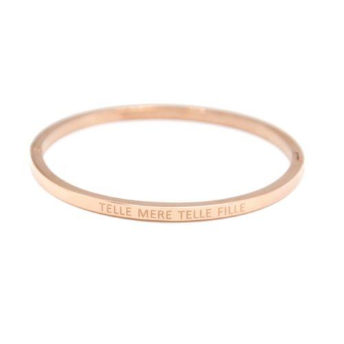 Bracelet-Enfant-Jonc-Fin-Acier-Or-Rose-avec-Message-Telle-Mere-Telle-Fille