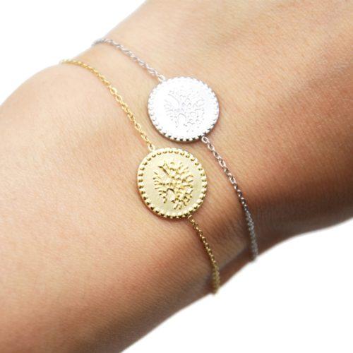 Bracelet-Fine-Chaine-avec-Medaille-Motif-Arbre-de-Vie-Acier