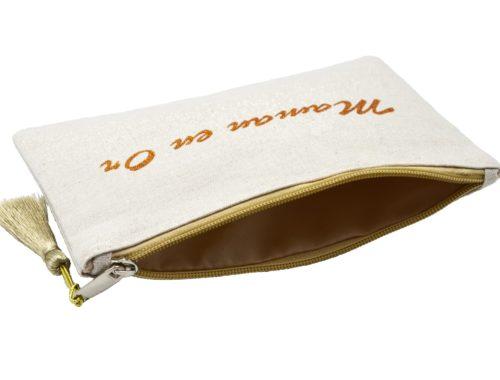 Trousse-Pochette-Toile-Message-Maman-en-Or-Paillettes-et-Pompon-Dore
