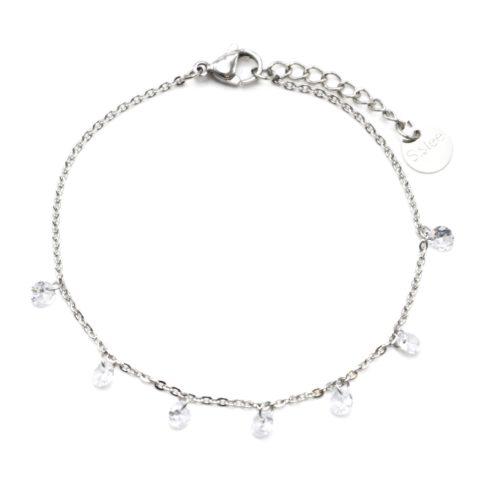 Bracelet-Fine-Chaine-Acier-Argente-avec-Charms-Pierres-Transparentes