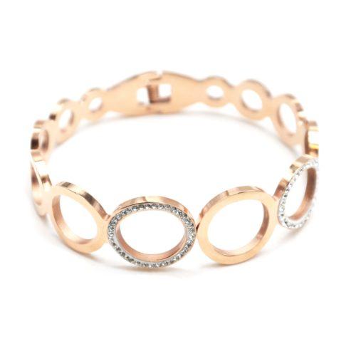 Bracelet-Jonc-Large-avec-Cercles-Contour-Acier-Or-Rose-et-Strass