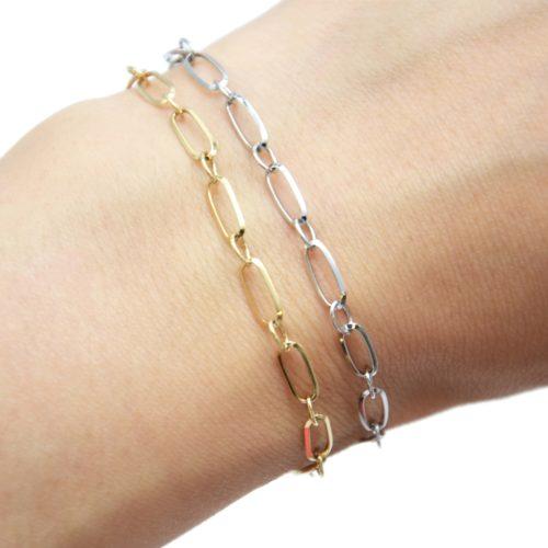 Bracelet-Chaine-avec-Maillons-Rectangles-Acier