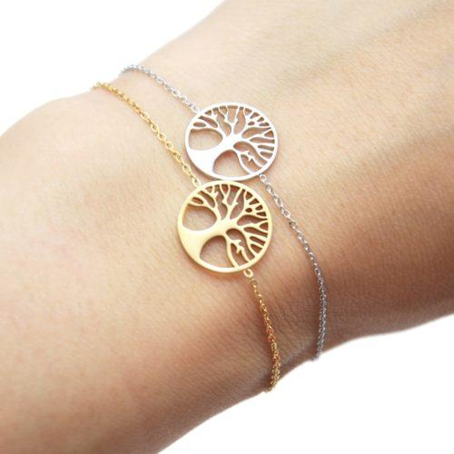 Bracelet-Fine-Chaine-avec-Cercle-Ajoure-Arbre-de-Vie-Acier