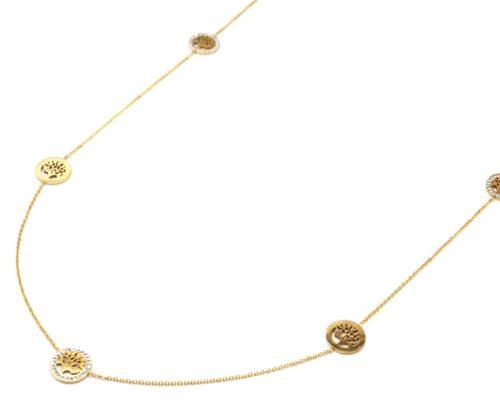 Sautoir-Collier-Fine-Chaine-avec-Charms-Cercles-Arbres-de-Vie-Acier-Dore-et-Strass