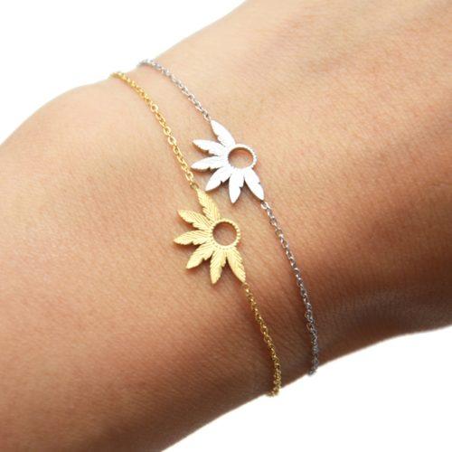 Bracelet-Fine-Chaine-avec-Multi-Plumes-Relief-Acier