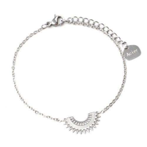 Bracelet-Fine-Chaine-avec-Demi-Cercle-Motif-Ajoure-Acier-Argente