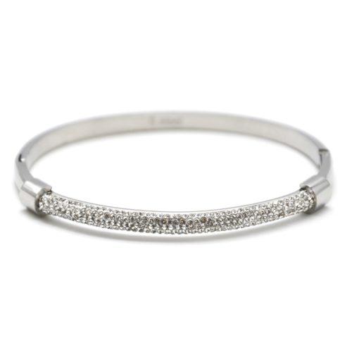 Bracelet-Jonc-Acier-Argente-avec-Bande-Arrondie-Ornee-de-Strass
