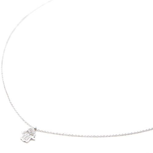 Collier-Fine-Chaine-Argent-925-Pendentif-Main-de-Fatma-Ajouree-Strass-Zirconium
