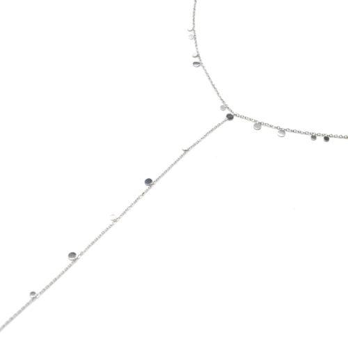Collier-Fine-Chaine-Y-avec-Mini-Pampilles-Assorties-Acier-Argente