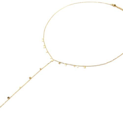 Collier-Fine-Chaine-Y-avec-Mini-Pampilles-Assorties-Acier-Dore