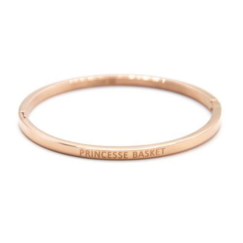 Bracelet-Enfant-Jonc-Fin-Acier-Or-Rose-avec-Message-Princesse-Basket