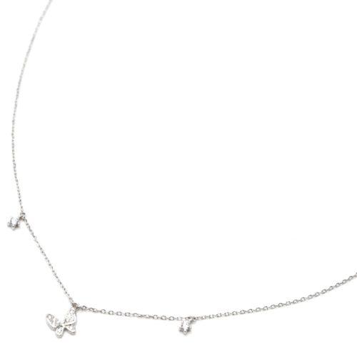 Collier-Fine-Chaine-Argent-925-Pendentif-Papillon-Strass-Zirconium-et-Pierres