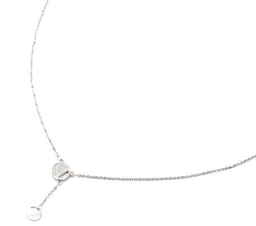 Collier-Fine-Chaine-Argent-925-Pendentif-Y-Medailles-Strass-Zirconium-et-Unie
