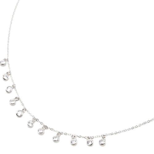 Collier-Fine-Chaine-Argent-925-Pendentif-Multi-Pampilles-Pierres-Zirconium