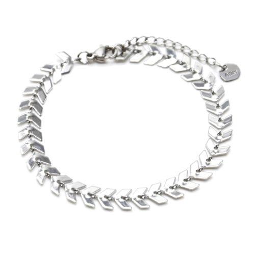 Bracelet-Chaine-avec-Multi-Chevrons-Acier-Argente