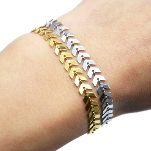 Bracelet-Chaine-avec-Multi-Chevrons-Acier