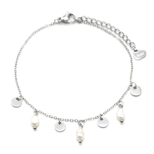 Bracelet-avec-Pampilles-Acier-Argente-et-Perles-d-Eau-Douce