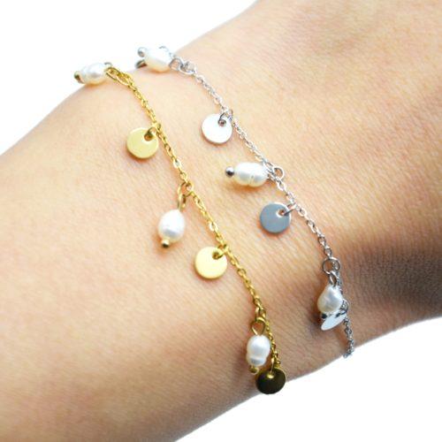Bracelet-avec-Pampilles-Acier-et-Perles-d-Eau-Douce