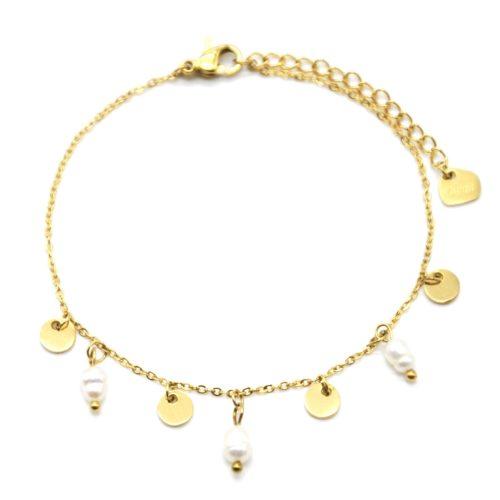 Bracelet-avec-Pampilles-Acier-Dore-et-Perles-d-Eau-Douce