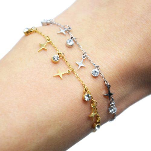Bracelet-avec-Pampilles-Etoiles-Polaires-Acier-Argente-et-Pierres