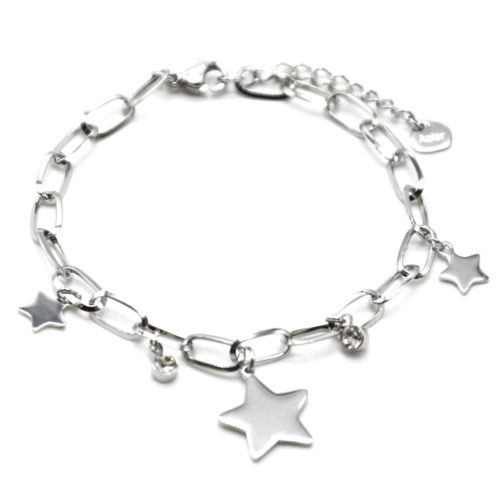 Bracelet-Chaine-Maillons-avec-Pampilles-Etoiles-Acier-Argente-et-Pierres