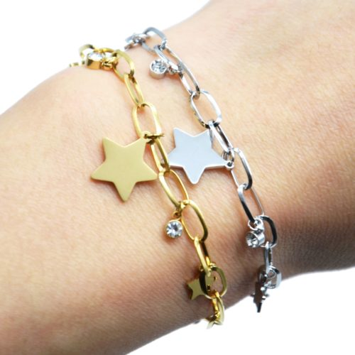 Bracelet-Chaine-Maillons-avec-Pampilles-Etoiles-Acier-et-Pierres