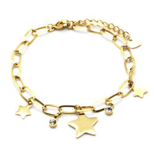 Bracelet-Chaine-Maillons-avec-Pampilles-Etoiles-Acier-Dore-et-Pierres