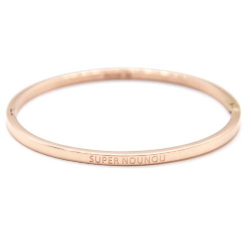 Bracelet-Jonc-Fin-Acier-Or-Rose-avec-Message-Super-Nounou