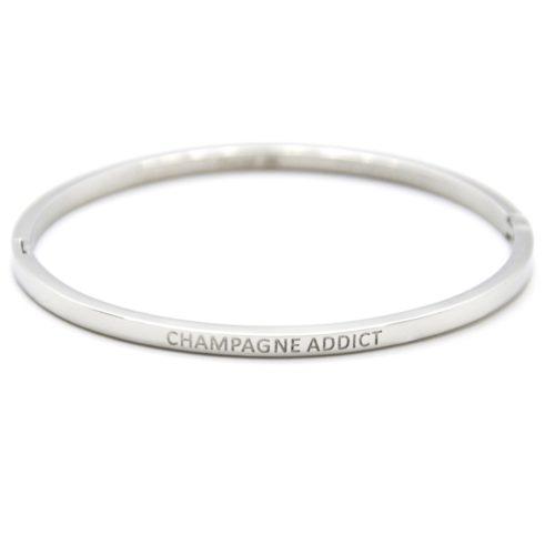 Bracelet-Jonc-Fin-Acier-Argente-avec-Message-Champagne-Addict